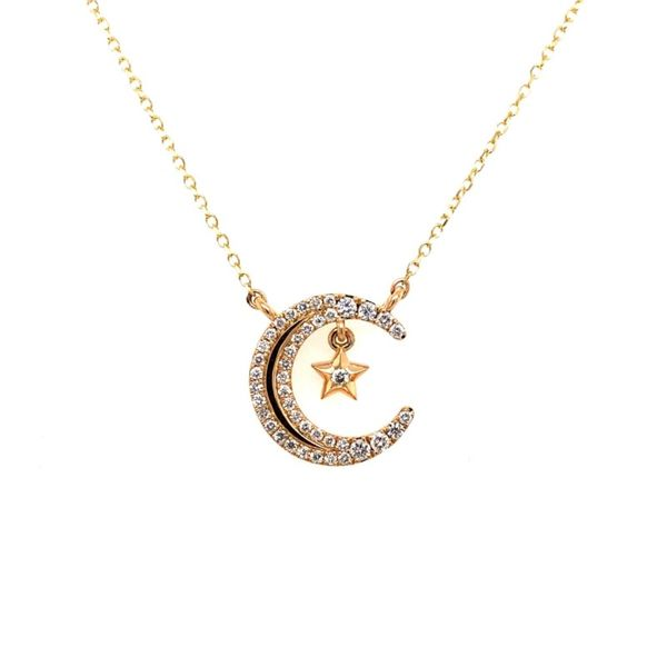 Moon and Star Diamond Necklace Van Adams Jewelers Snellville, GA