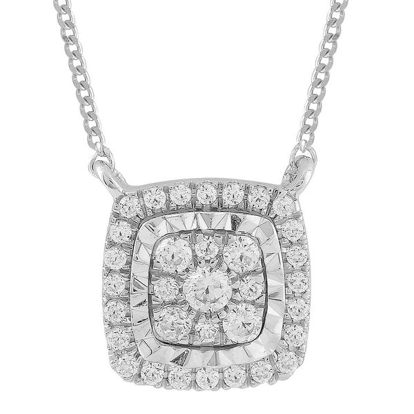 10K White Gold Diamond Necklace Van Adams Jewelers Snellville, GA