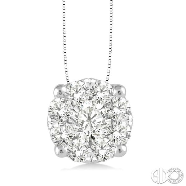 14K White Gold Lovebright Diamond Pendant Van Adams Jewelers Snellville, GA