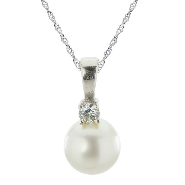 Pearl and Diamond Pendant Van Adams Jewelers Snellville, GA