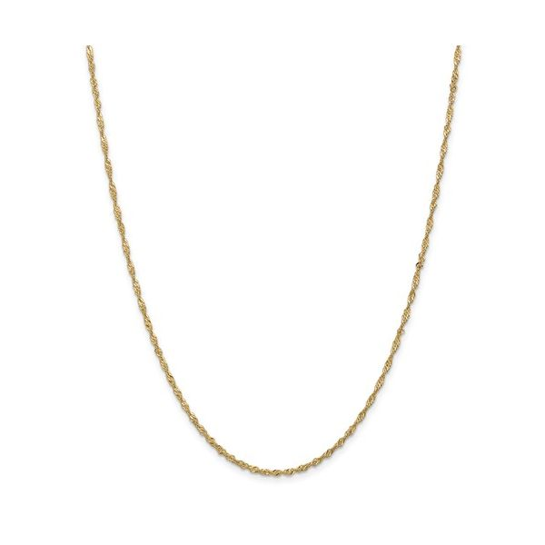 14K Yellow Gold Singapore Chain Van Adams Jewelers Snellville, GA