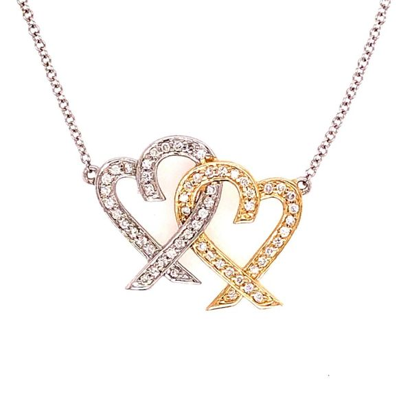 14K Diamond Heart Shaped Pendant Van Adams Jewelers Snellville, GA