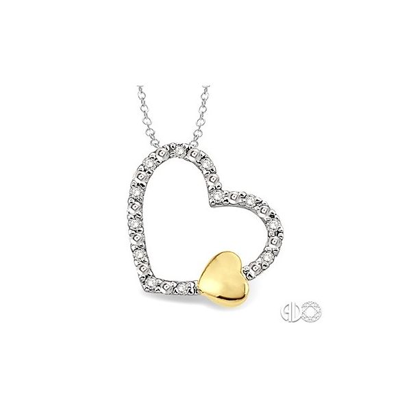 Silver Heart Shape Diamond Pendant Van Adams Jewelers Snellville, GA
