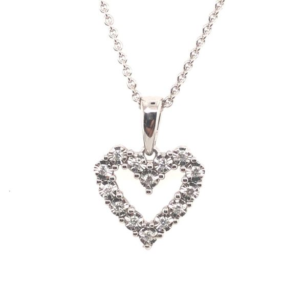 1/10 Carat Diamond Heart Necklace Van Adams Jewelers Snellville, GA