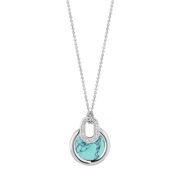 Ti Sento Silver necklace with simulated stones Van Adams Jewelers Snellville, GA