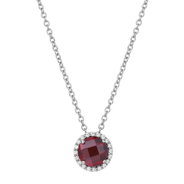 Lafonn Garnet and Simulated Diamond Necklace Van Adams Jewelers Snellville, GA