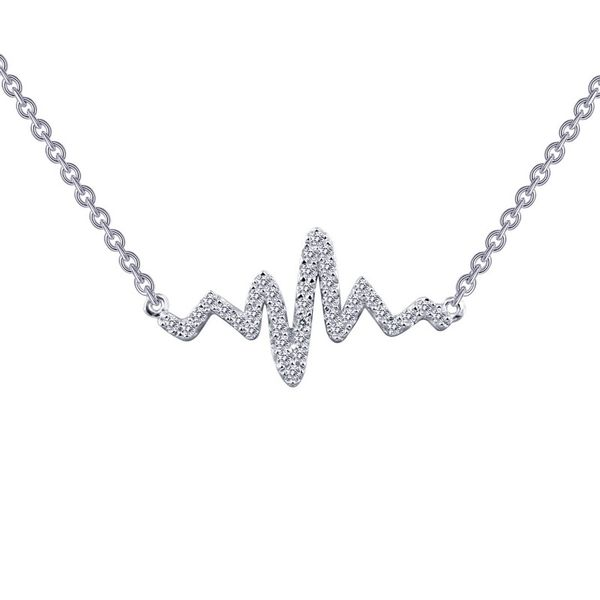 Silver Heartbeat Necklace Van Adams Jewelers Snellville, GA