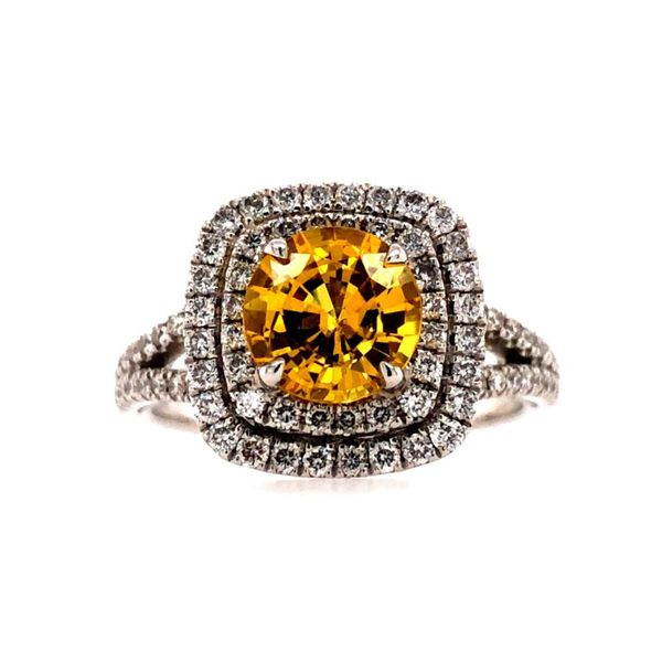 14K Yellow Sapphire and Diamond Ring Van Adams Jewelers Snellville, GA