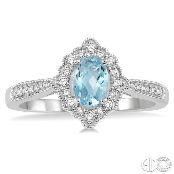 Aquamarine and Diamond Fashion Ring Van Adams Jewelers Snellville, GA