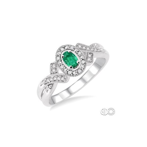 Emerald and Diamond Fashion Ring Van Adams Jewelers Snellville, GA