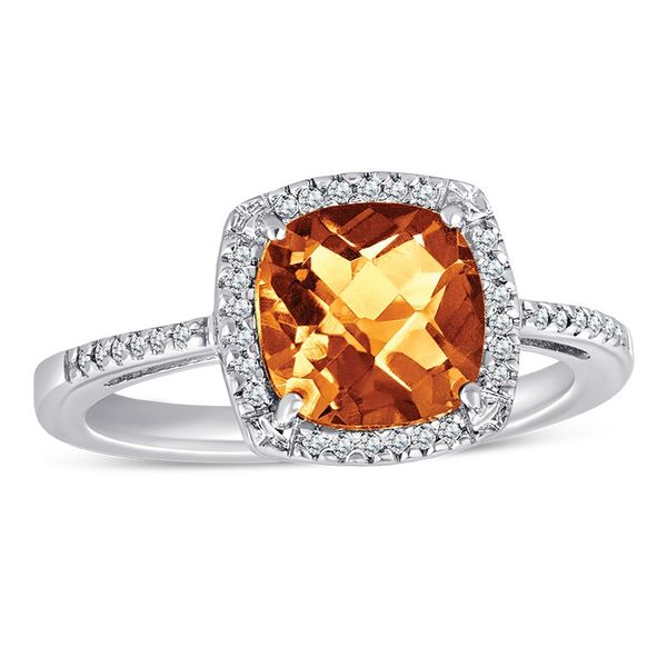 Sterling Silver Citrine and Diamond Ring Van Adams Jewelers Snellville, GA