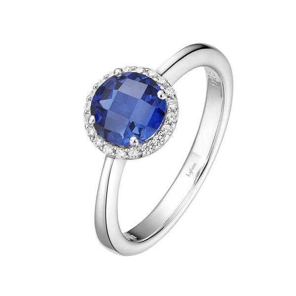 Lafonn Simulated Sapphire and Diamond Ring Van Adams Jewelers Snellville, GA