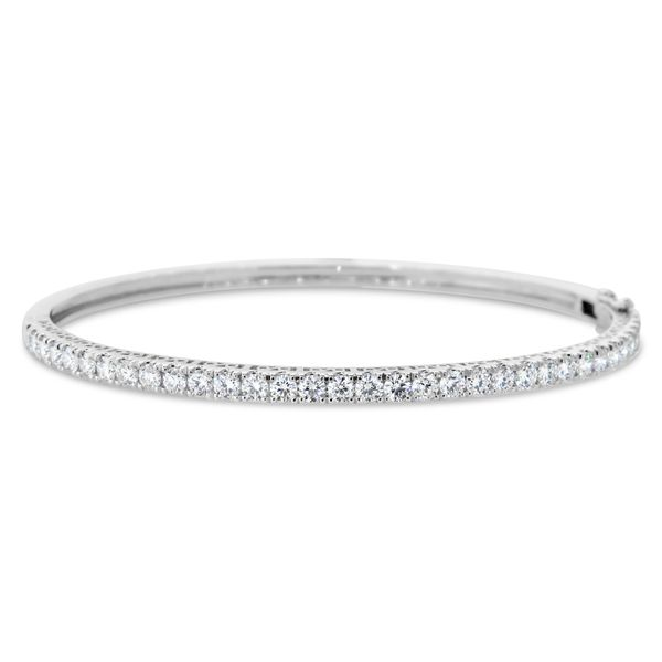 Van Adam's Collection 14K White Gold Diamond Bangle Van Adams Jewelers Snellville, GA