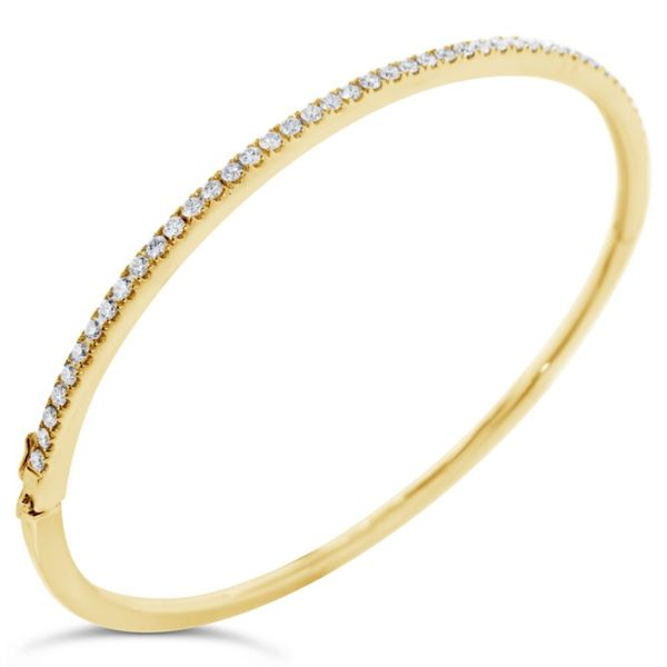 Van Adam's Collection 14K Yellow Gold Diamond Bangle Van Adams Jewelers Snellville, GA