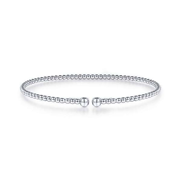 Split 14K White Gold Beaded Bujukan Bangle Van Adams Jewelers Snellville, GA