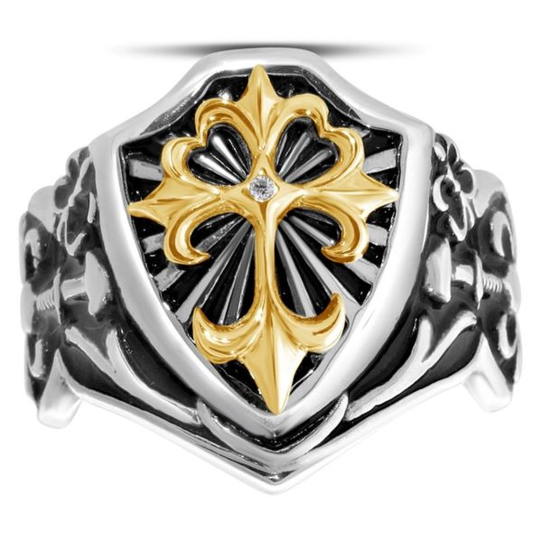Men's Silver and Gold Fashion Ring Van Adams Jewelers Snellville, GA