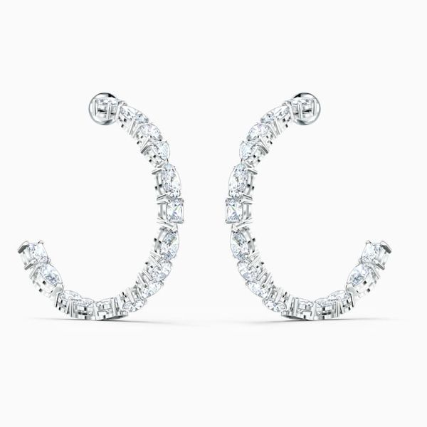 Swarovski Tennis Hoop Earrings Van Adams Jewelers Snellville, GA