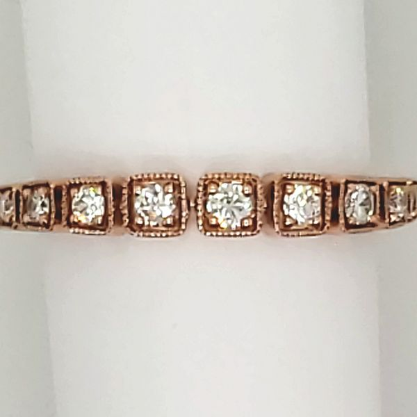 DIAMOND RING | DIAMOND ANNIVERSARY BAND | 14 KARAT ROSE GOLD | 1/5 CARAT TOTAL DIAMOND WEIGHT Van Scoy Jewelers Wyomissing,