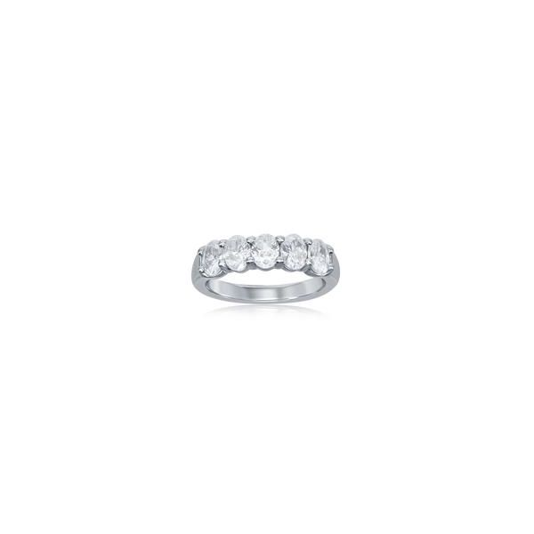 DIAMOND RING | DIAMOND ANNIVERSARY BAND | OVAL DIAMONDS | 1 CARAT TOTAL WEIGHT | SHARED PRONG Van Scoy Jewelers Wyomissing, PA