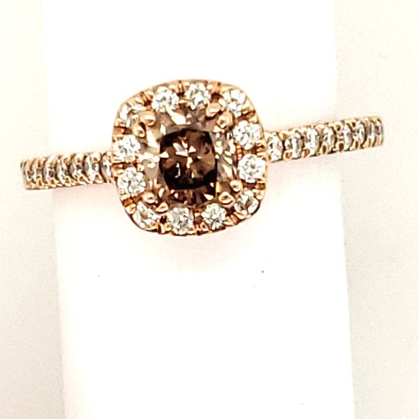 DIAMOND RING | COGNAC DIAMOND | 14 KARAT ROSE GOLD Van Scoy Jewelers Wyomissing,