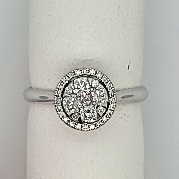 Lady's White Gold Cluster Ring Van Scoy Jewelers Wyomissing,