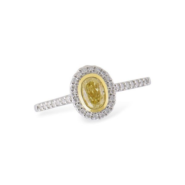 DIAMOND RING | 14 KARAT WHITE GOLD | FANCY YELLOW DIAMOND Van Scoy Jewelers Wyomissing,