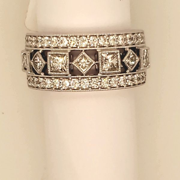 DIAMOND RING | DIAMOND ANNIVERSARY BAND | 14 KARAT WHITE GOLD | 1 1/2 CARAT TOTAL WEIGHT Van Scoy Jewelers Wyomissing,