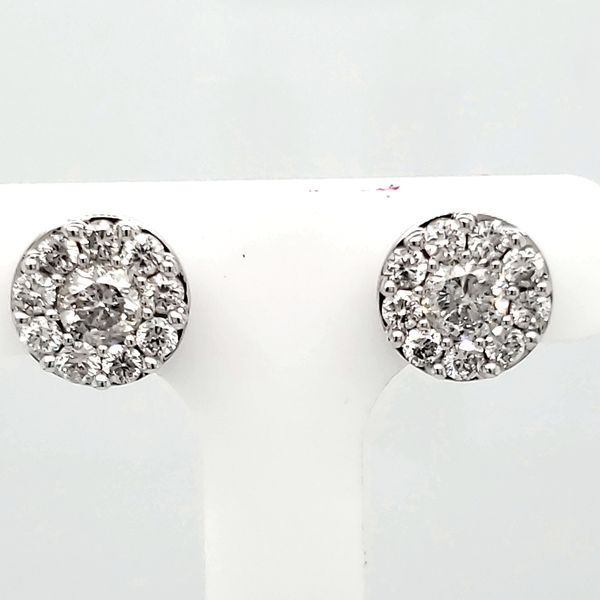 Lady's Diamond Cluster Earrings Van Scoy Jewelers Wyomissing,