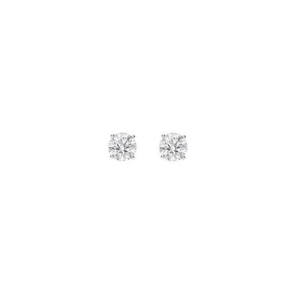 Lady's Diamond Stud Earrings Van Scoy Jewelers Wyomissing,