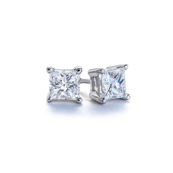 Lady's Princess Cut Stud Earrings Van Scoy Jewelers Wyomissing,