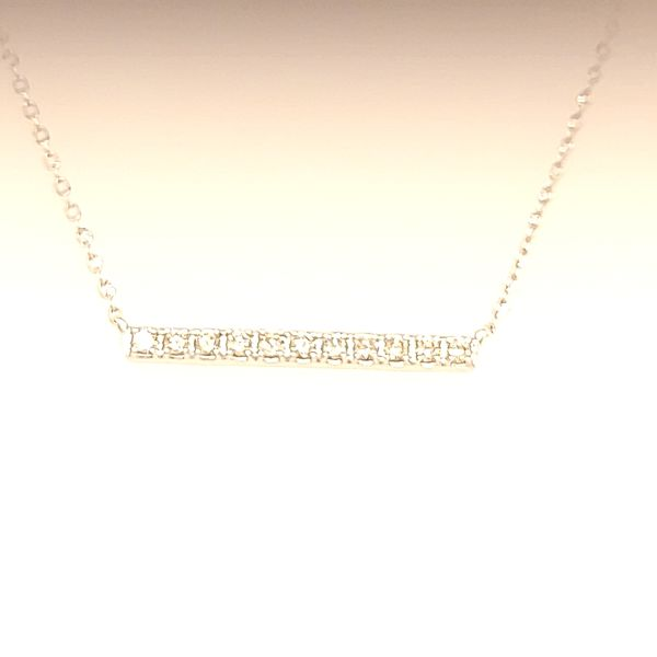 DIAMOND NECKLACE | 14 KARAT WHITE GOLD | DIAMOND Van Scoy Jewelers Wyomissing, PA