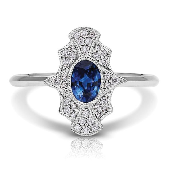 Antique Sapphire and Diamond Lady's Ring Van Scoy Jewelers Wyomissing,