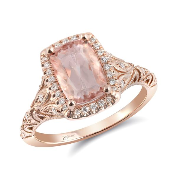 GEMSTONE RING | MORGANITE | MORGANITE AND DIAMOND RING | 14 KARAT ROSE GOLD | FILIGREE Van Scoy Jewelers Wyomissing,