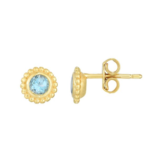Blue Topaz Stud Earrings Van Scoy Jewelers Wyomissing,