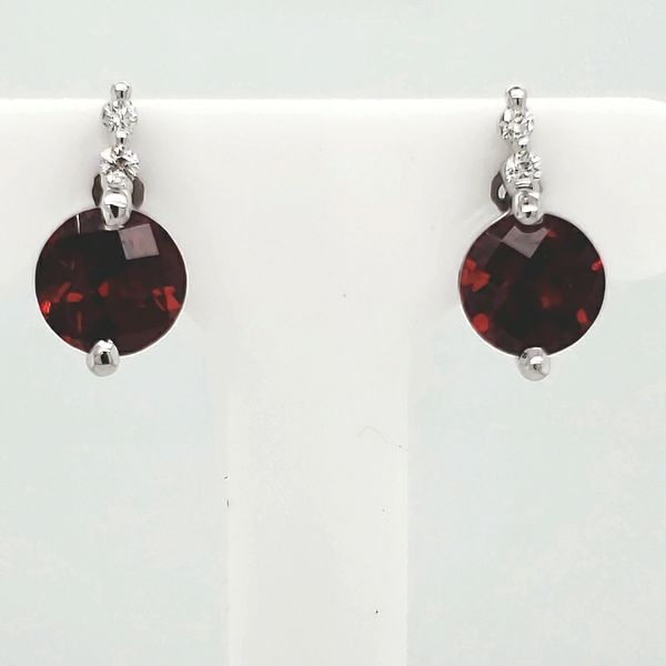 Garnet & Diamond Earrings Van Scoy Jewelers Wyomissing,