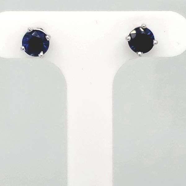 Sapphire Stud Earrings Van Scoy Jewelers Wyomissing, PA