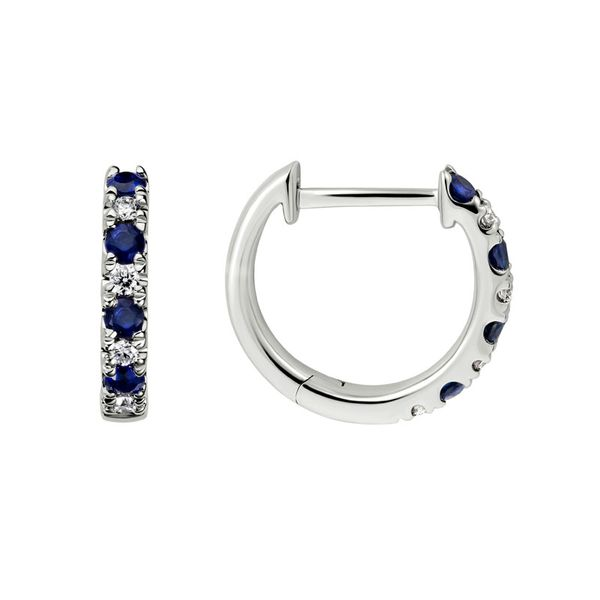 Sapphire & Diamond Hoop Earrings Van Scoy Jewelers Wyomissing,