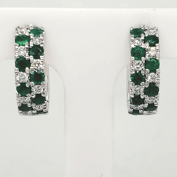 Emerald Hoop Earrings Van Scoy Jewelers Wyomissing,