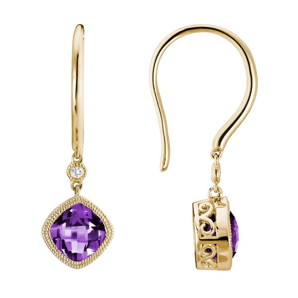 Amethyst Dangle Earrings Van Scoy Jewelers Wyomissing,