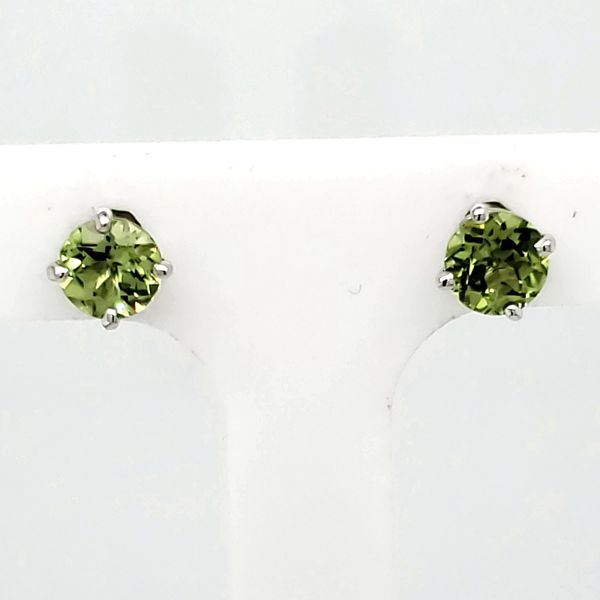 Peridot Stud Earrings Van Scoy Jewelers Wyomissing,