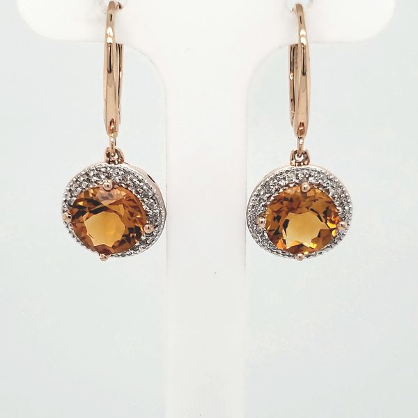 Citrie & Diamond Dangle Earrings Van Scoy Jewelers Wyomissing,