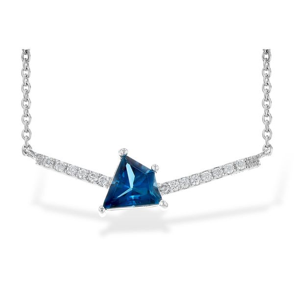Blue Topaz and Diamond Pendant Van Scoy Jewelers Wyomissing,