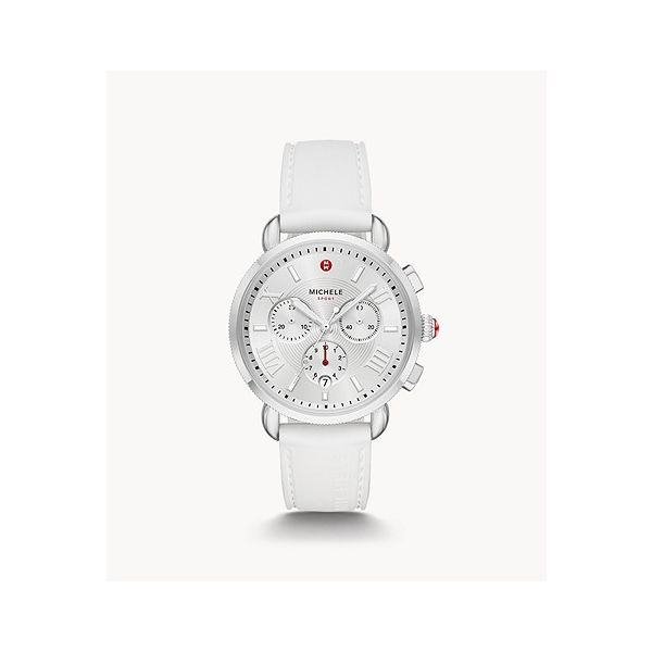 MICHELE WATCH | CHRONOGRAPH | WHITE SILICONE STRAP | SPORTY SAIL | 38 MM Van Scoy Jewelers Wyomissing, PA