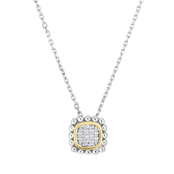 STERLING SILVER PENDANT | 18 KARAT YELLOW GOLD | DIAMOND PENDANT Van Scoy Jewelers Wyomissing, PA