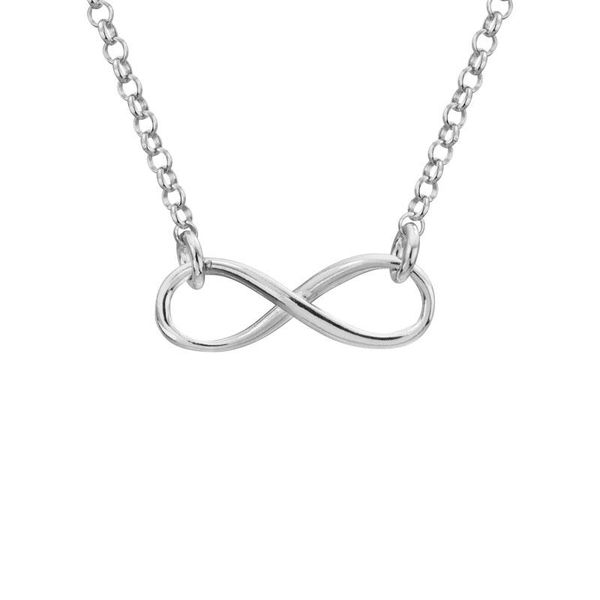 STERLING SILVER NECKLACE | INFINITY NECKLACE Van Scoy Jewelers Wyomissing, PA