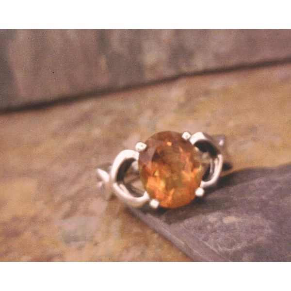 Large Citrine and White Gold Ring Vulcan's Forge LLC Kansas City, MO