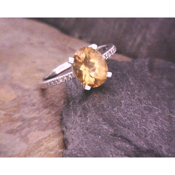 10kt Citrine and Diamond Ring Vulcan's Forge LLC Kansas City, MO