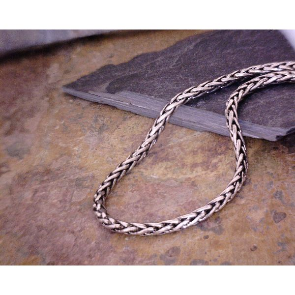 Sterling Oxidized Wheat Chain 2.15mm 20