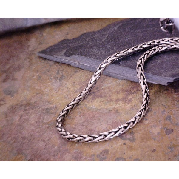 Sterling Oxidized Wheat Chain 2.15mm Vulcan's Forge LLC Kansas City, MO