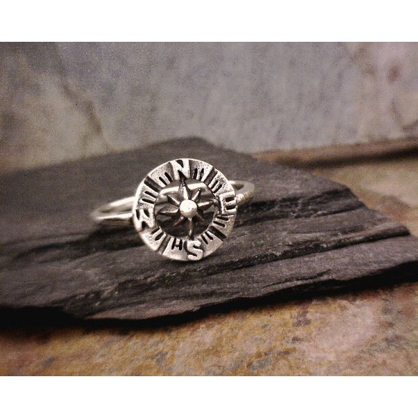 Sterling Compass Ring Vulcan's Forge LLC Kansas City, MO